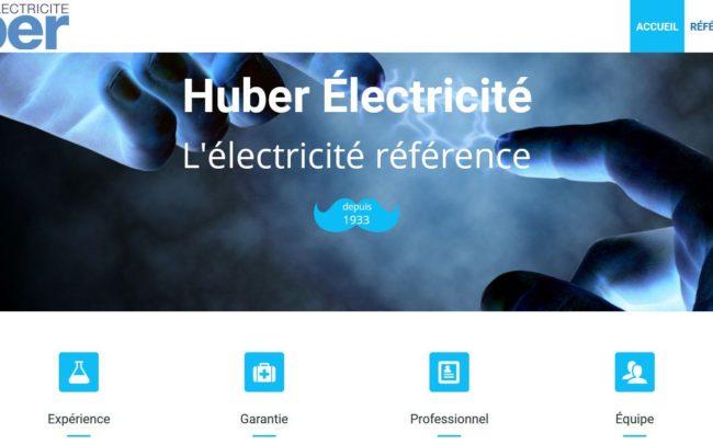 Site web d'huber électricité
