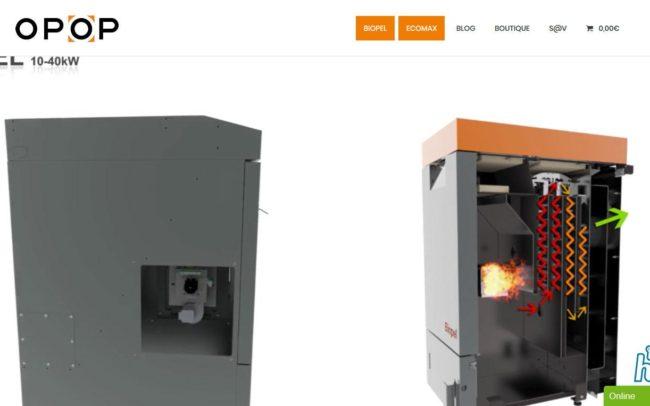 Site web d'opop.fr, réalisé par karedess.fr