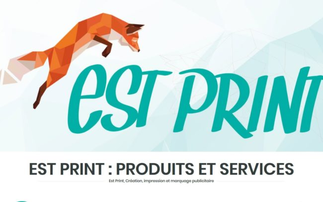 Site web d'estprint - création, impression et marquage publicitaire
