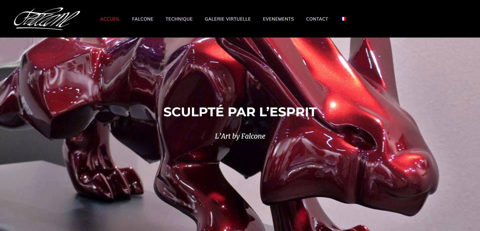 L'art by Falcone, sculpté par l'esprit, client Karedess, agence web et digitale situé à Mulhouse
