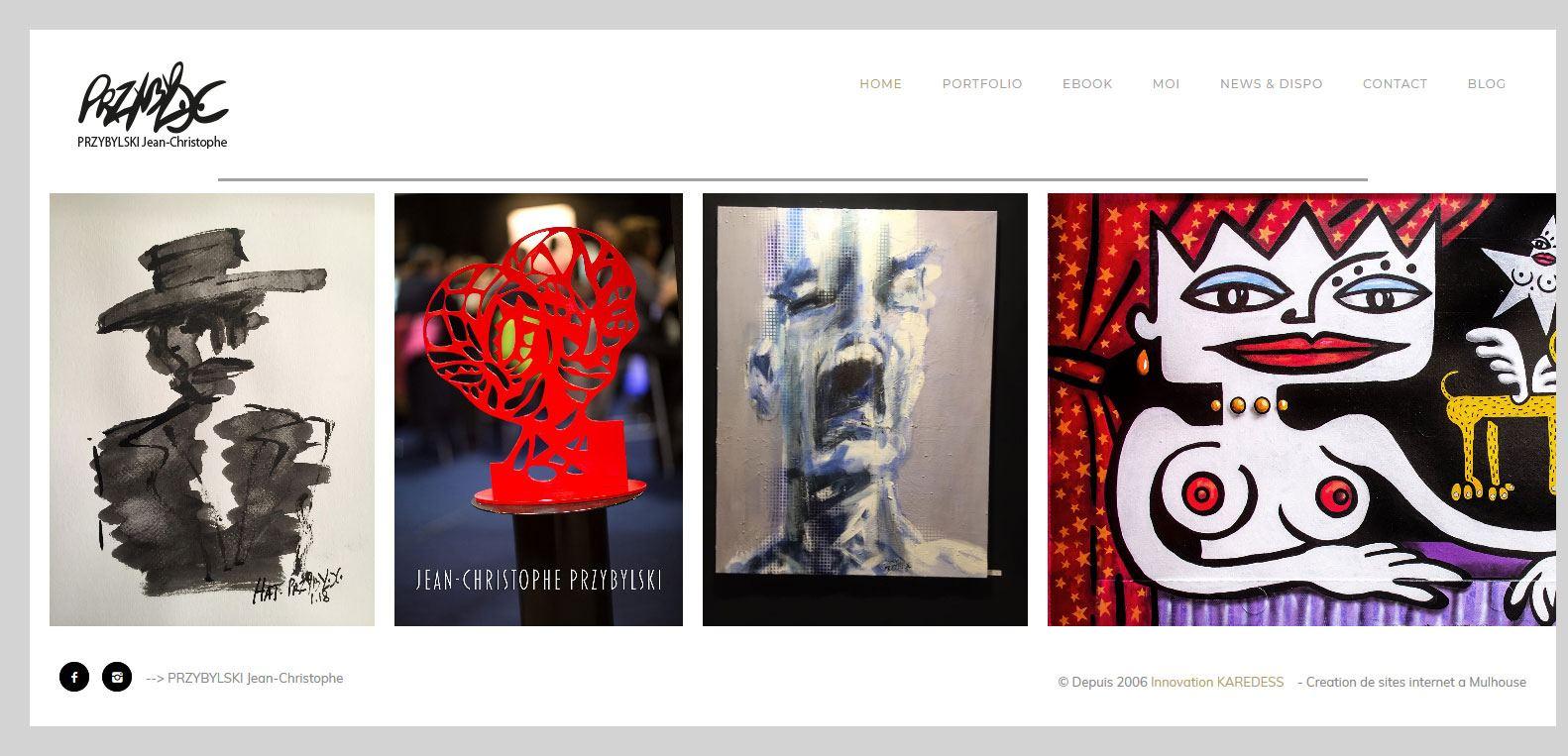 PRYBYLSKI, artiste et client de l'agence Karedess. Agence web et digitale situé à Mulhouse