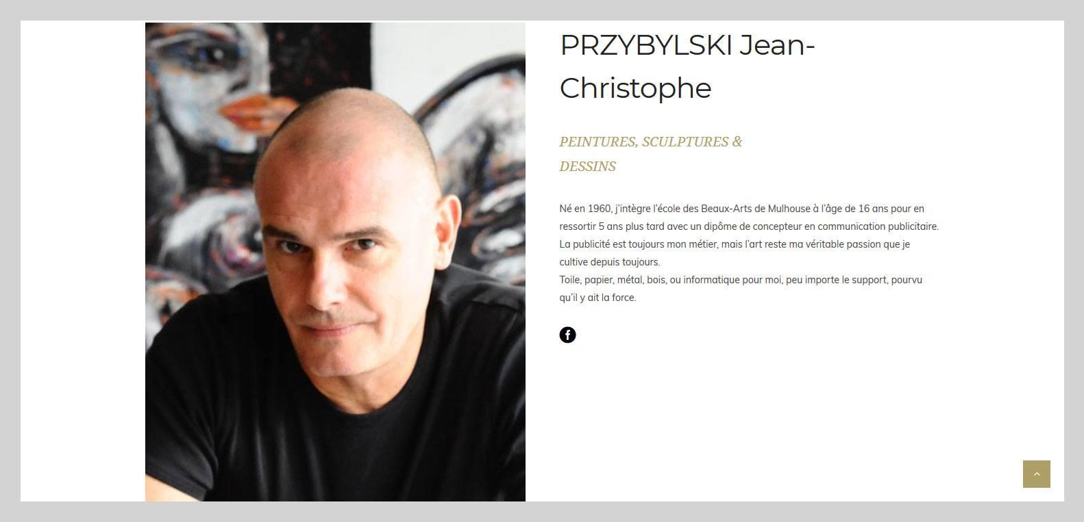 Jean Cristophe przybylski, artiste et client Karedess, agence web situé à Mulhouse