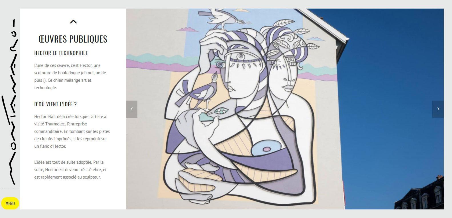 Les oeuvres publiques de renato montanaro, client Karedess agence web situé à Mulhouse
