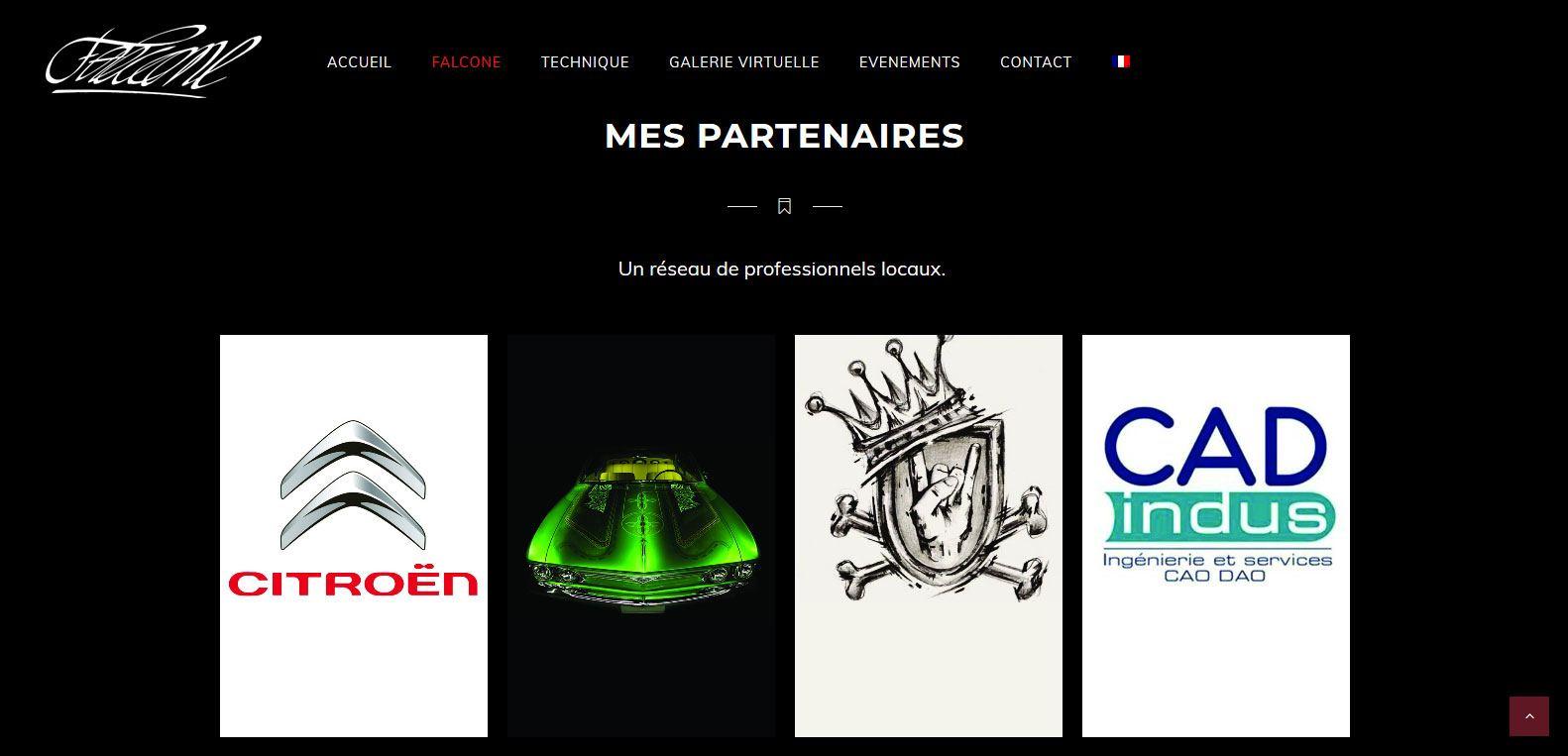 Liste des partenaires de Falcone. Client Karedess, agence web depuis 2006 situé à Mulhouse.