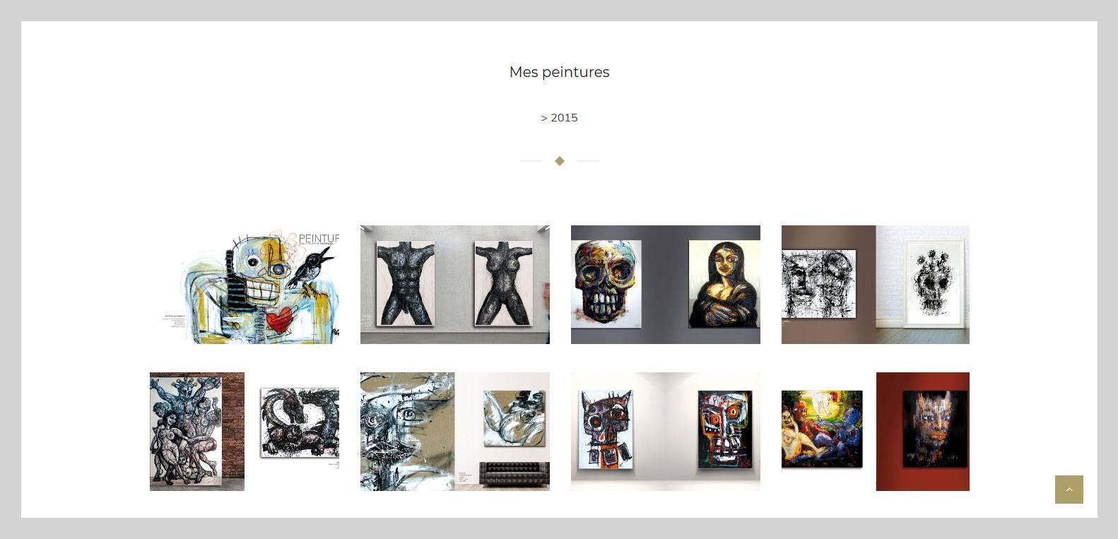 Les peintures de przybylsky, artiste qui à fait confiance à Karedess agency, agence web de Mulhouse
