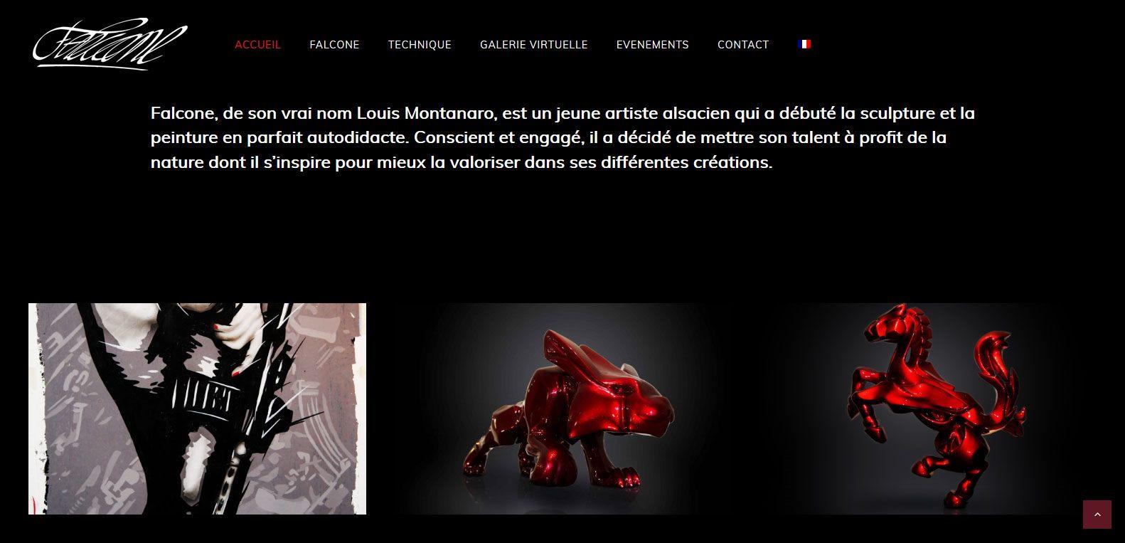 Falcone, ou louis montanaro - présentation de l'artiste - client Karedess - agence web dans le haut rhin - Mulhouse