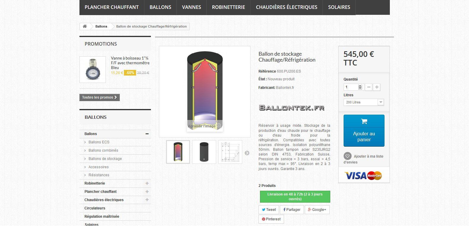 Produit chauffage discount, site client Karedess, agence web sur Mulhouse