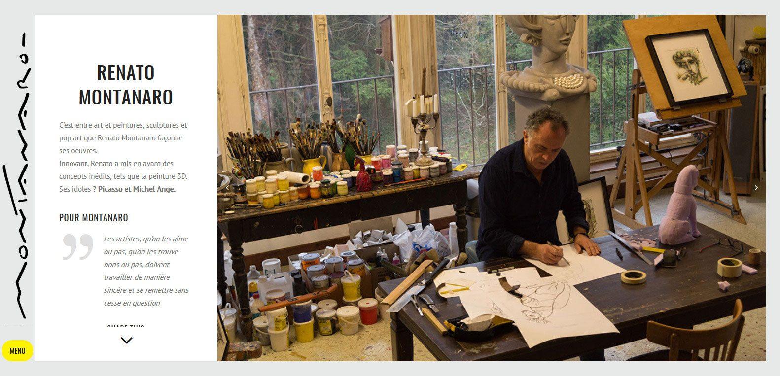 Renato Montanaro, artiste peintre à fait confiance à Karedess agency, agence web situé à Mulhouse pour la création de son site
