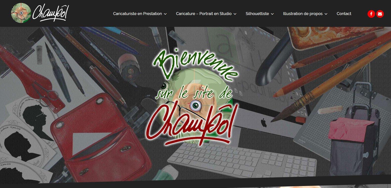 Champôl, caricaturiste, client Karedess, agence web situé à Mulhouse