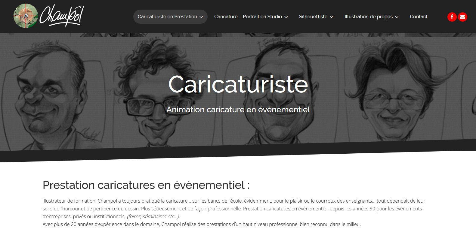 Champol, un caricaturiste hors pair et client karedess agency, agence web depuis 2006 à Mulhouse