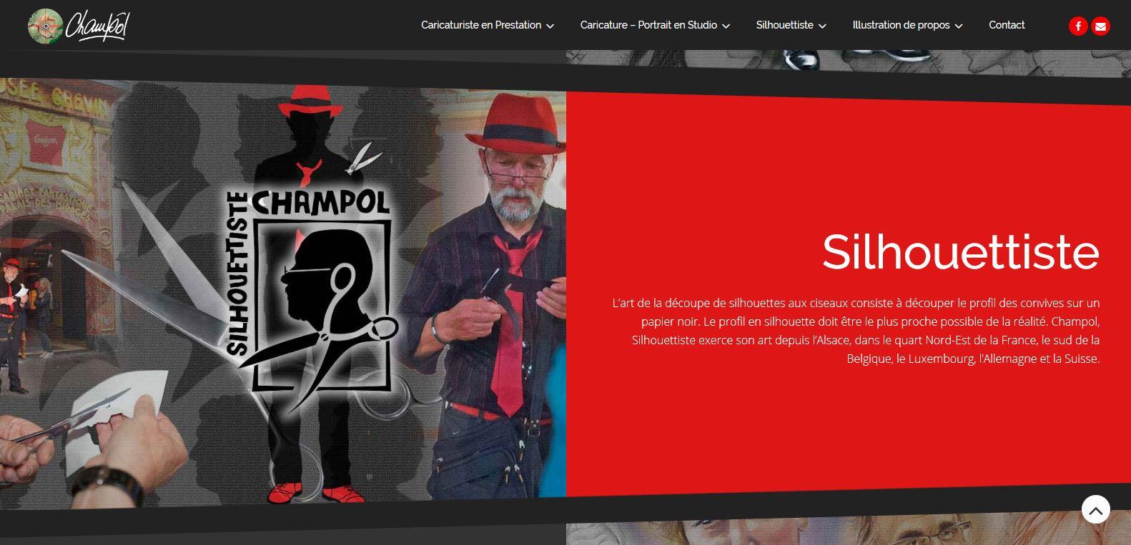 La silhouette revue par le silhouettiste champôl. Client karedess, agence web situé à Mulhouse.