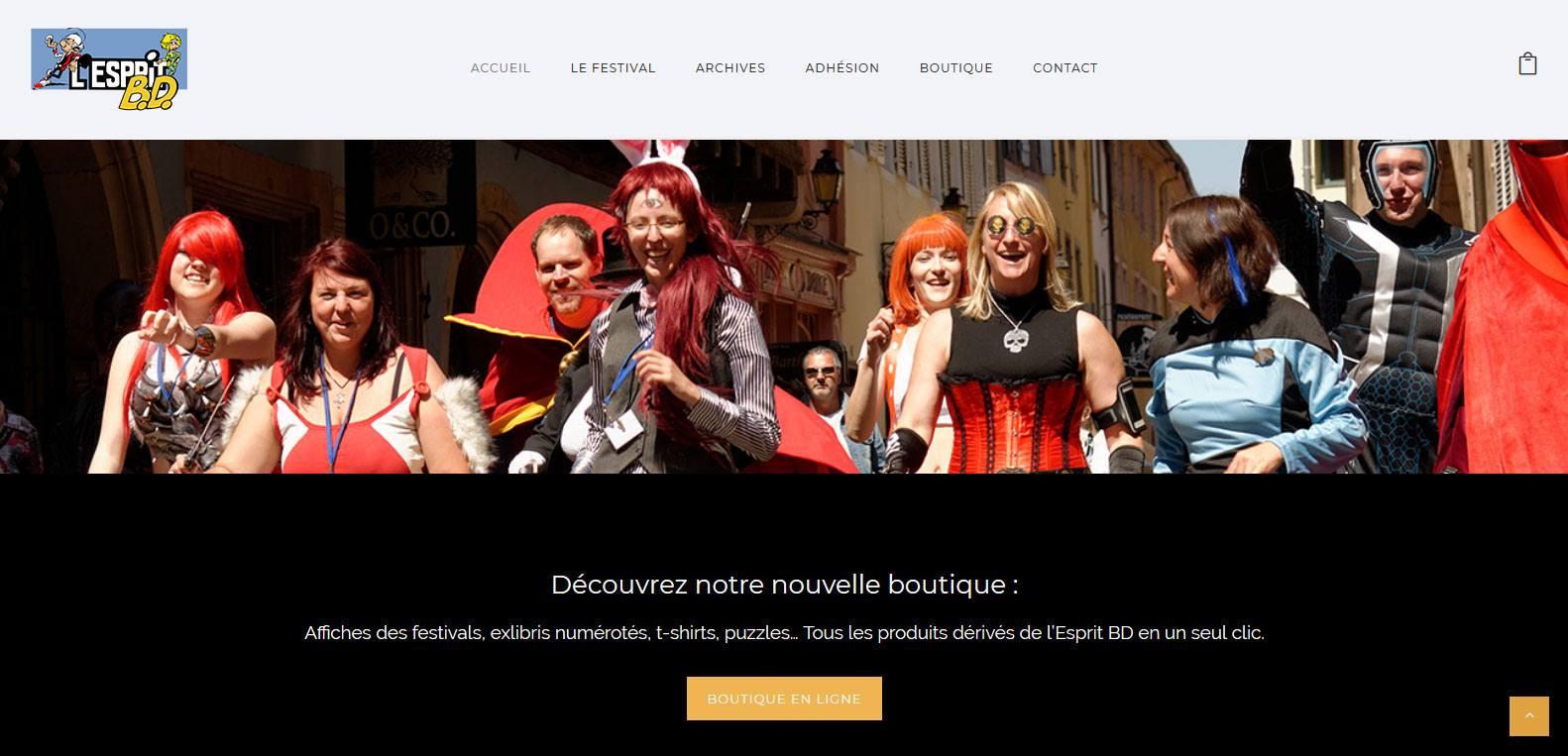 Boutique en ligne d'esprit bd, client Karedess agency, agence web sur Mulhouse