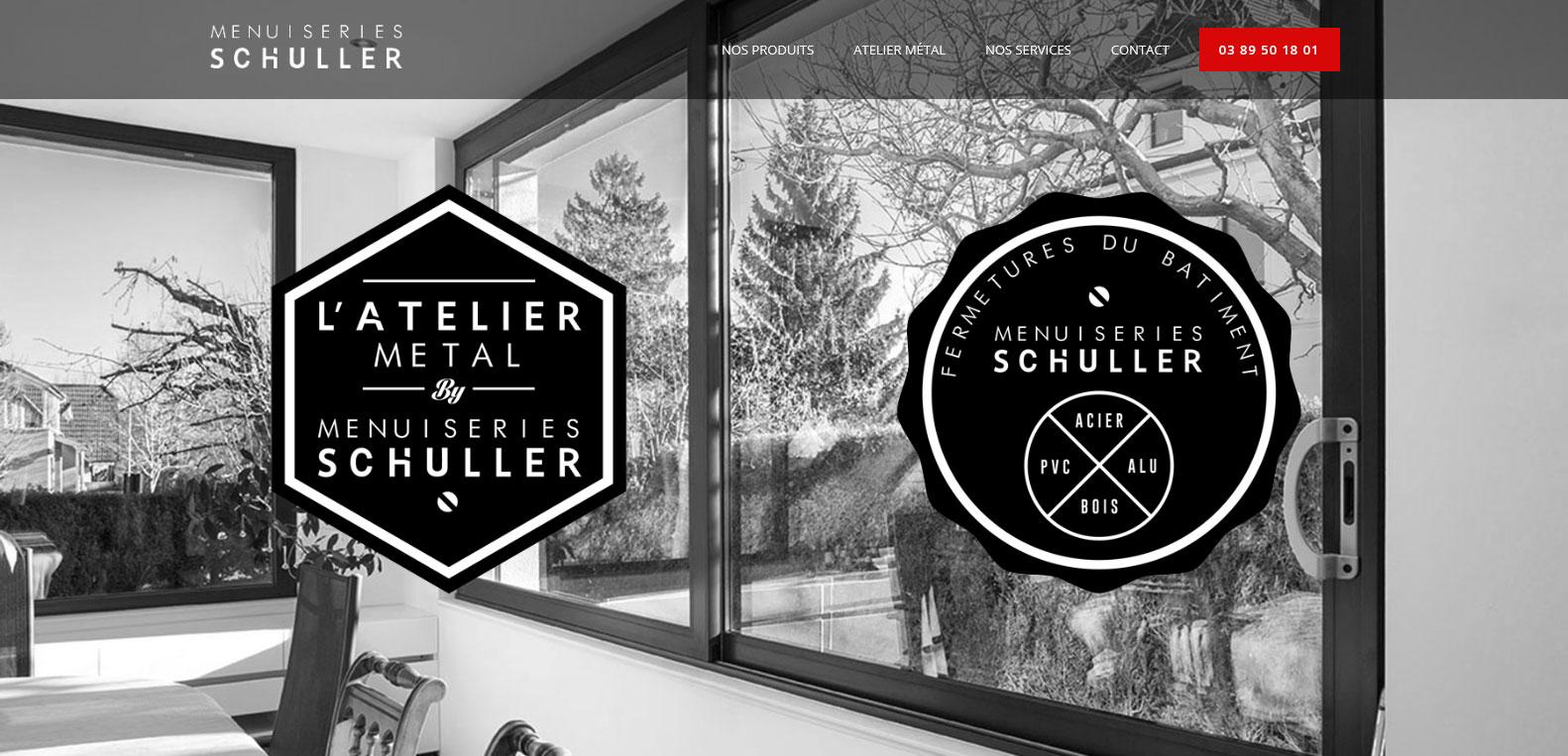 Menuiserie Schuller, client de l'agence karedess, agence web situé à Mulhouse