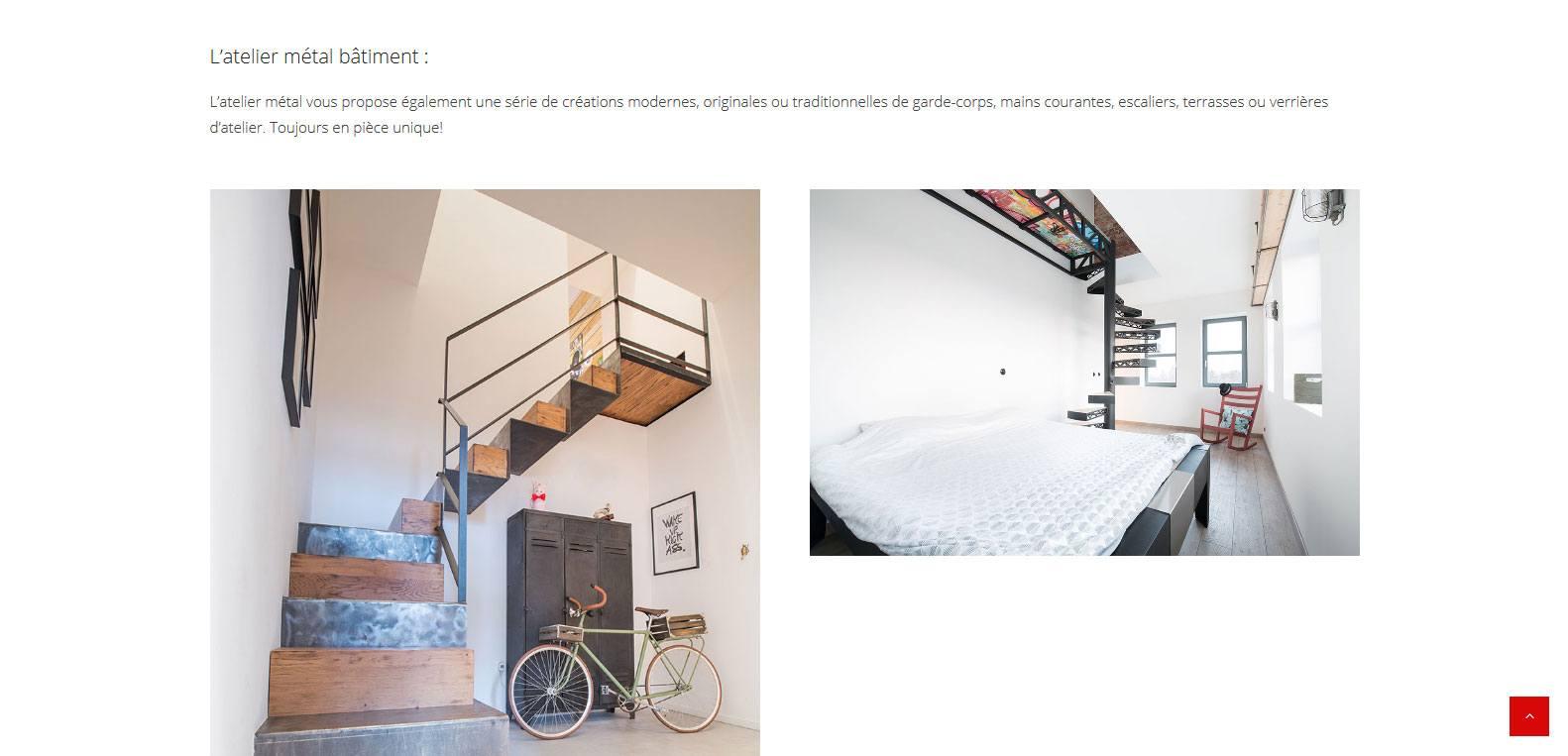 L'atelier métal bâtiment de ms68. Client Karedess, agence web à Mulhouse