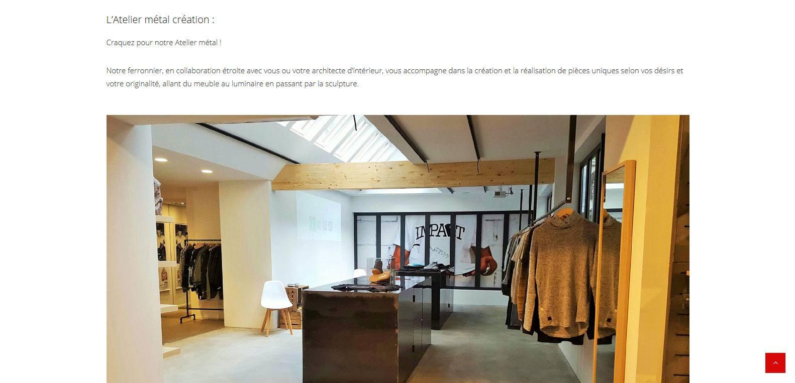 L'atelier métal création de la menuiserie schuller. Client Karedess, agence web à Mulhouse