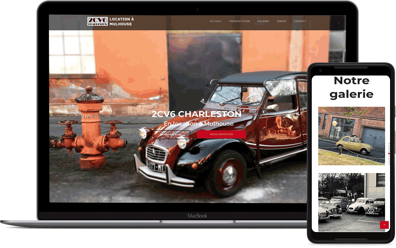 2CV6 location de voiture ancienne à mulhouse est un site créé par Karedess, agence web MULHOUSE
