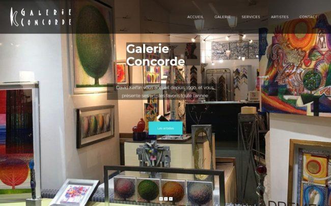 Site web gallerie concorde