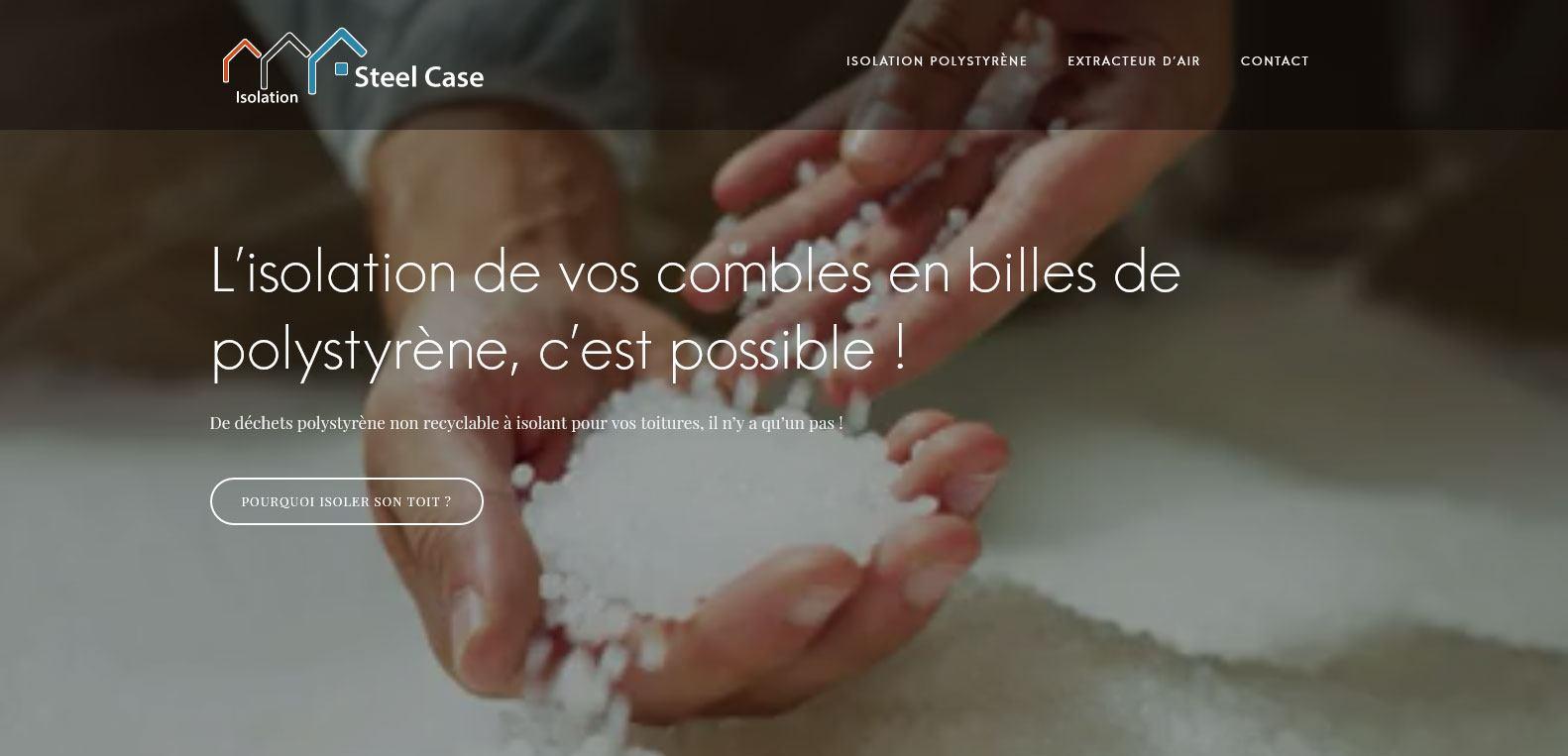 Site web d'isolation de vos combles en guyane, client Karedess, agence web situé à Mulhouse