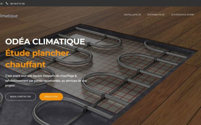 Site web d'Odéa climatique