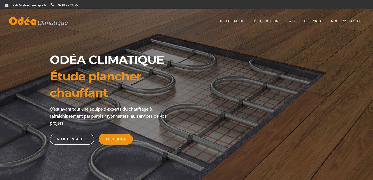 Site web d'Odéa climatique, client Karedess, agence web situé à Mulhouse