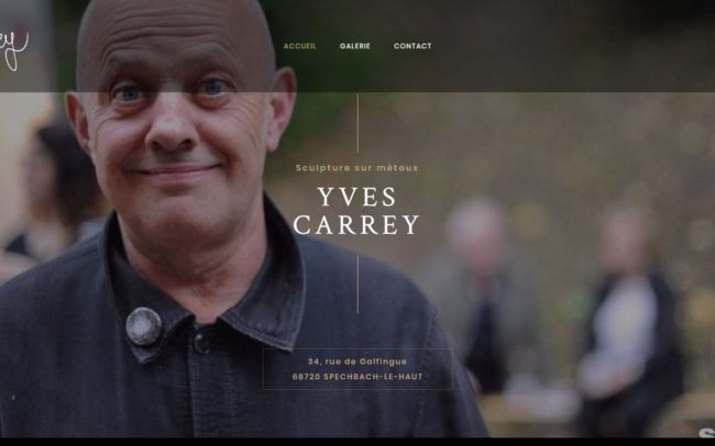 Site web de l'artiste Yves carrey