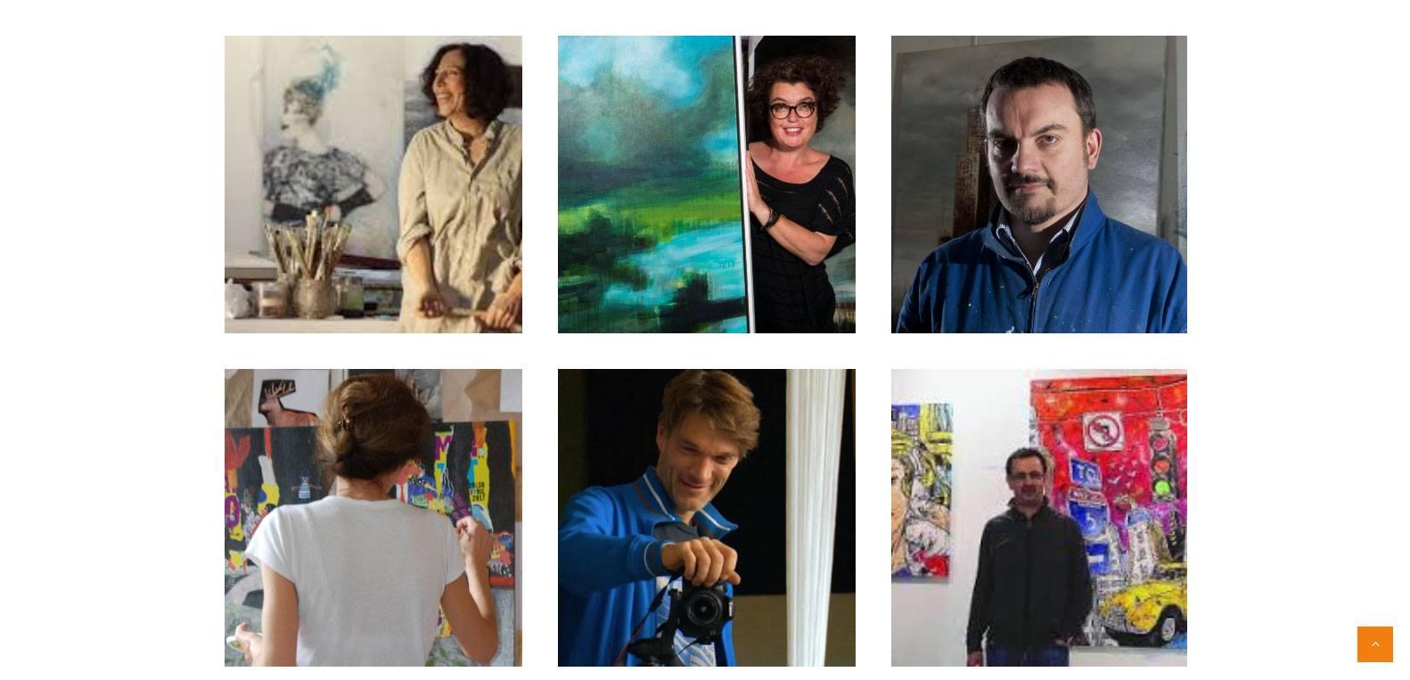 Artistes présents à la galerie courant d'art, client Karedess, agence web situé à proximité de Mulhouse