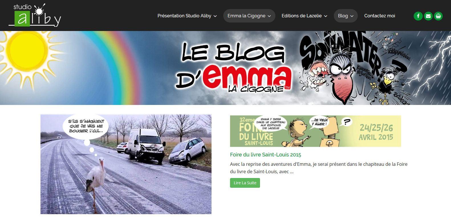 Le blog d'emma la Cigogne - studio aliby - Client Karedess, agence web à Mulhouse