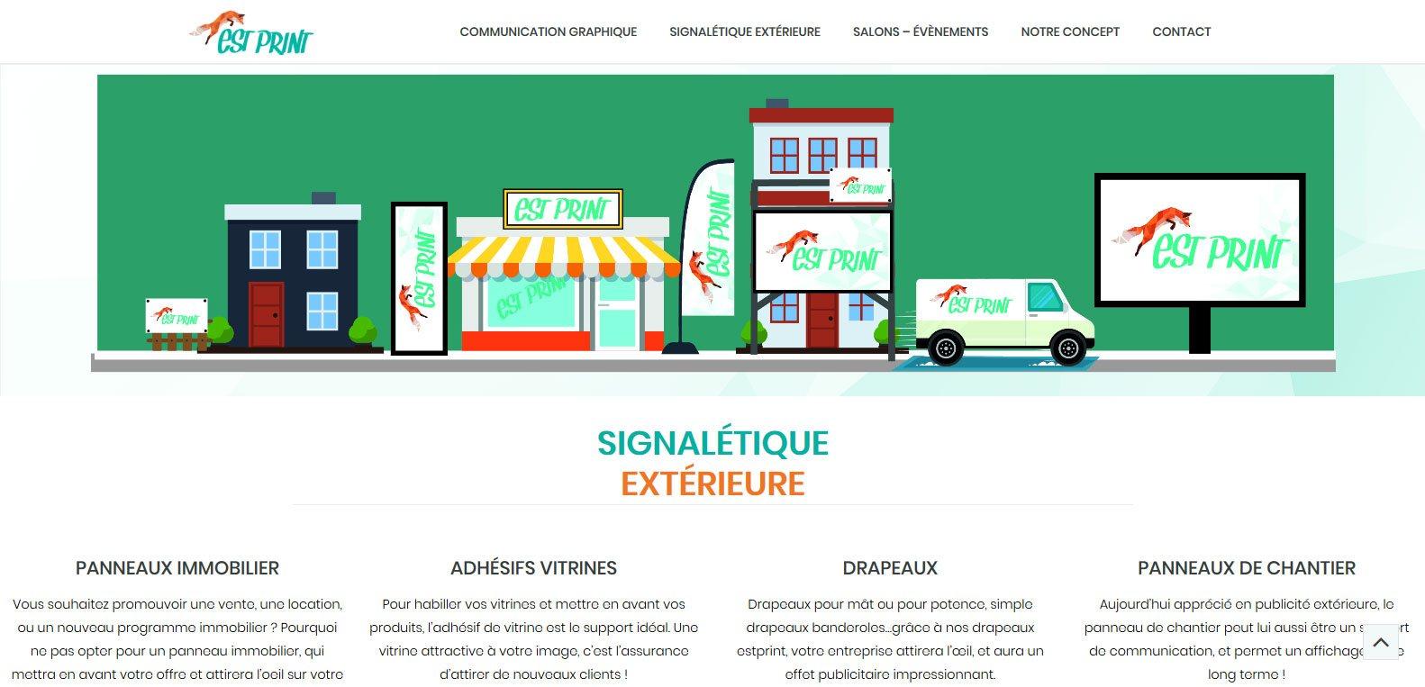 Signalétique extérieure réalisé par estprint, client Karedess agence web situé à Mulhouse