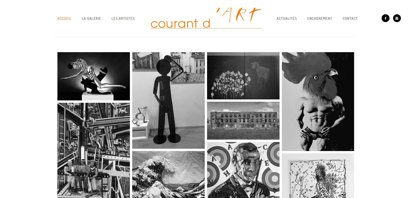 Courant d'art, galerie d'art et cliente de l'agence web et digitale Karedess à Mulhouse