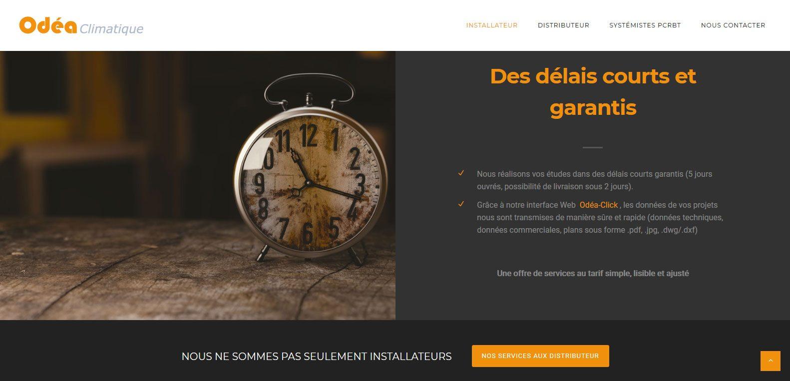 Odea climatique, des délais courts garantis ! Client Karedess, agence web situé à Mulhouse