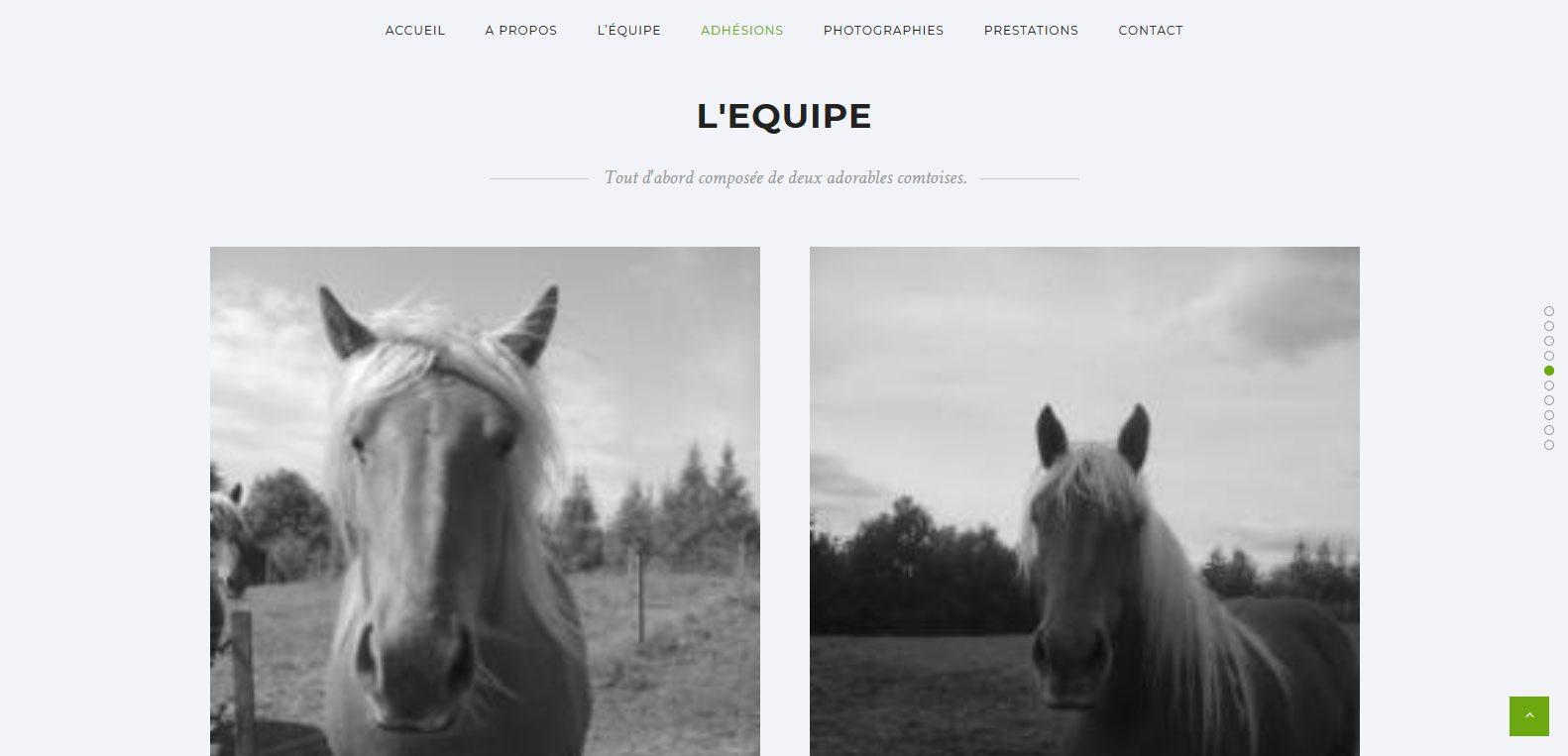 L'équipe de l'attelage 70, client Karedess, une agence web situé à Mulhouse