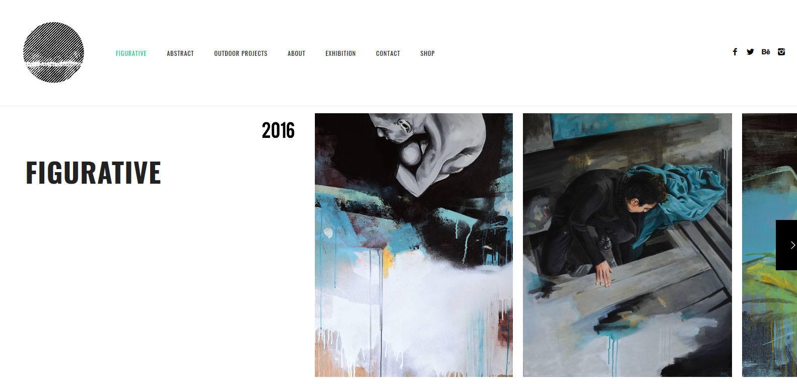 Nicolas blind et l'art figuratif, client Karedess, une agence web situé à Mulhouse