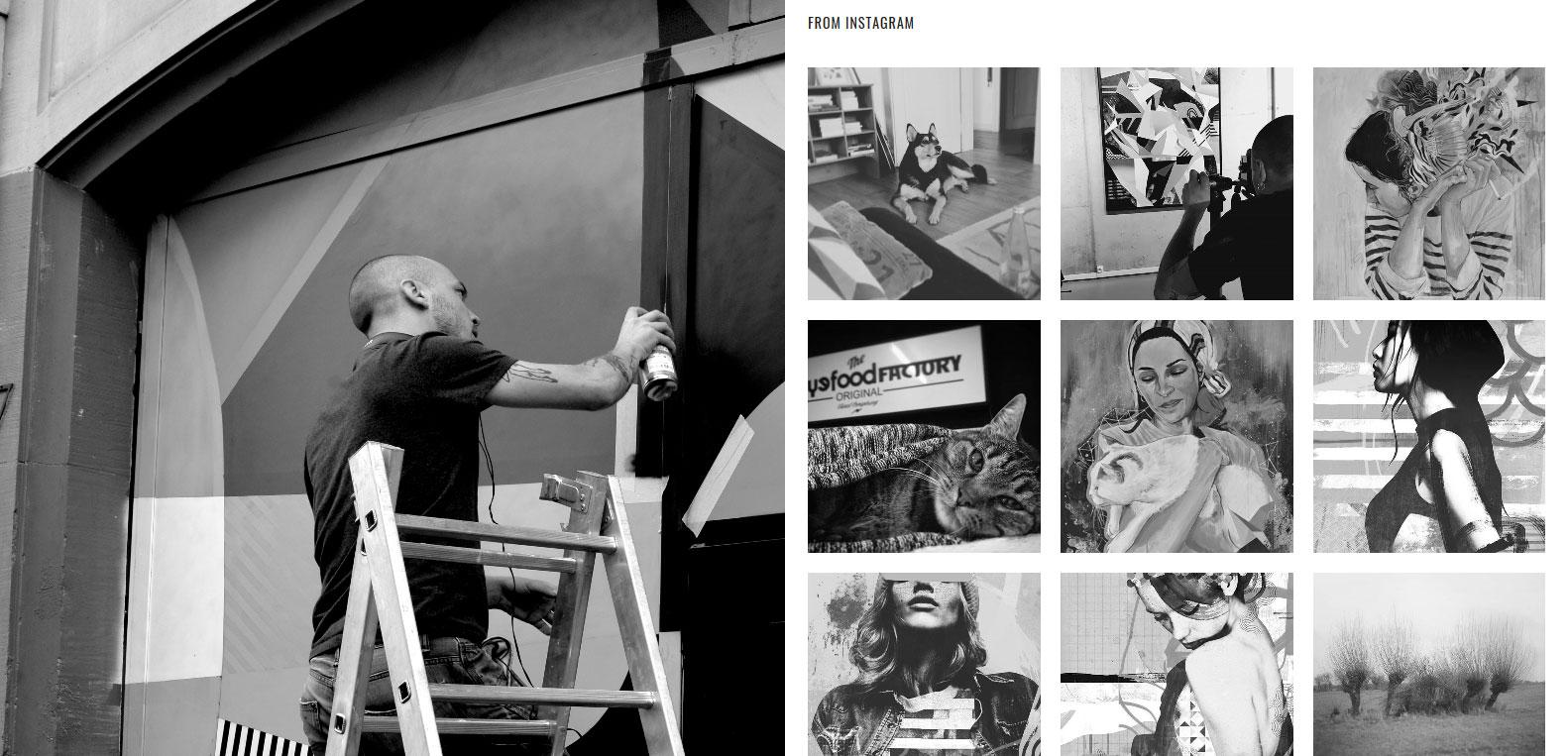 Nicolas blind sur instagram. Artiste et client Karedess agency, agence digitale à Mulhouse