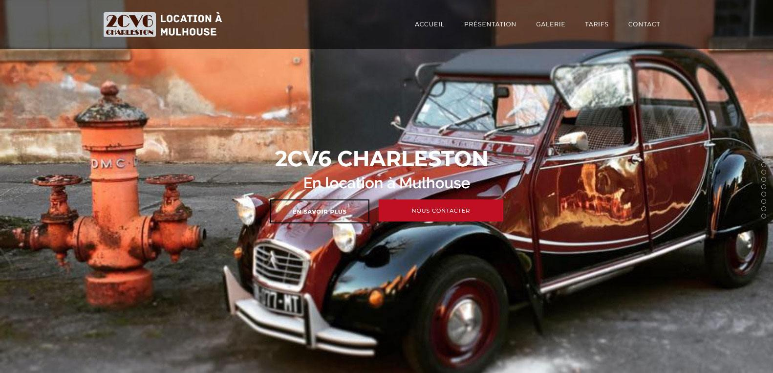 2CV V6 Charleston, location de 2CV à Mulhouse, client Karedess, agence web situé à Mulhouse