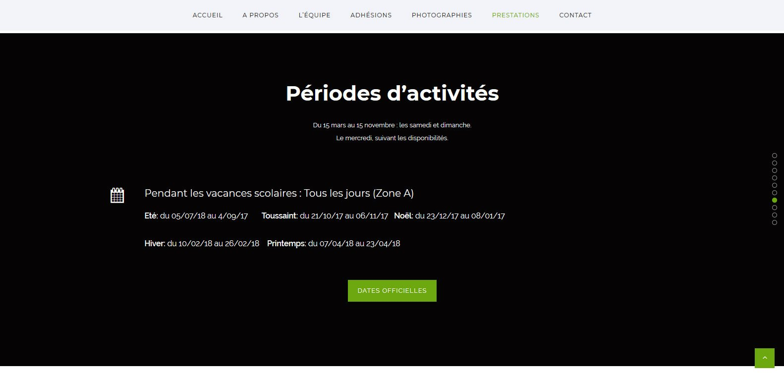 période activité attelage 70, client Karedess, agence web situé à Mulhouse