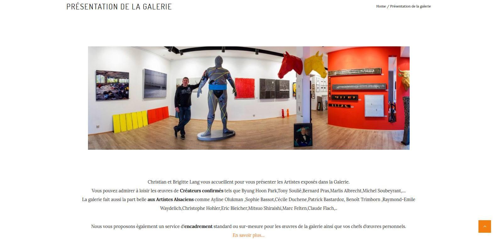 la gallerie courant d'art, la part belle aux artistes alsaciens. Un client Karedesss agency, agence web situé à Mulhouse