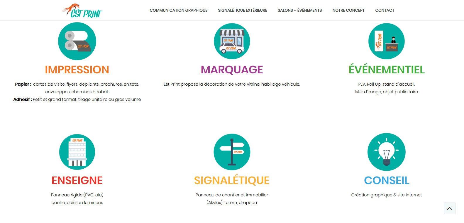 Impression, marquage, évenementiel, enseigne, signalétique et conseil, par estprint. Client Karedess, agence web de Mulhouse
