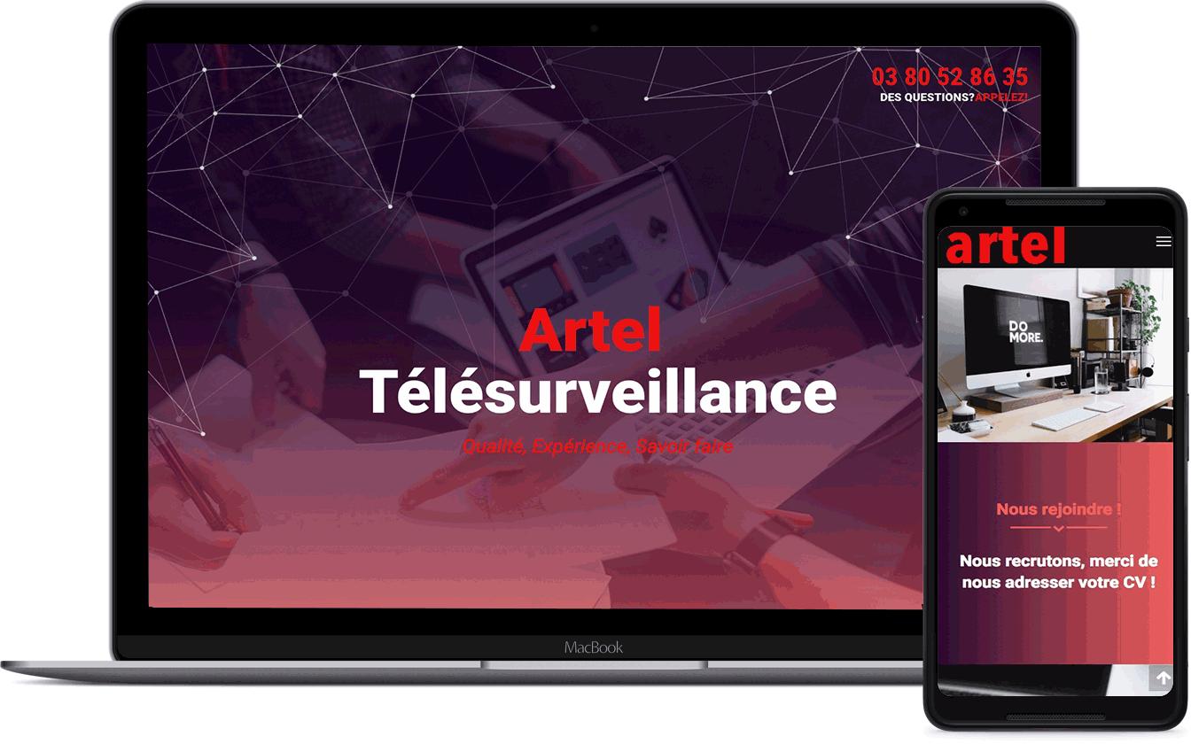Artel, télésurveillance, client Karedess, agence web situé à Mulhouse