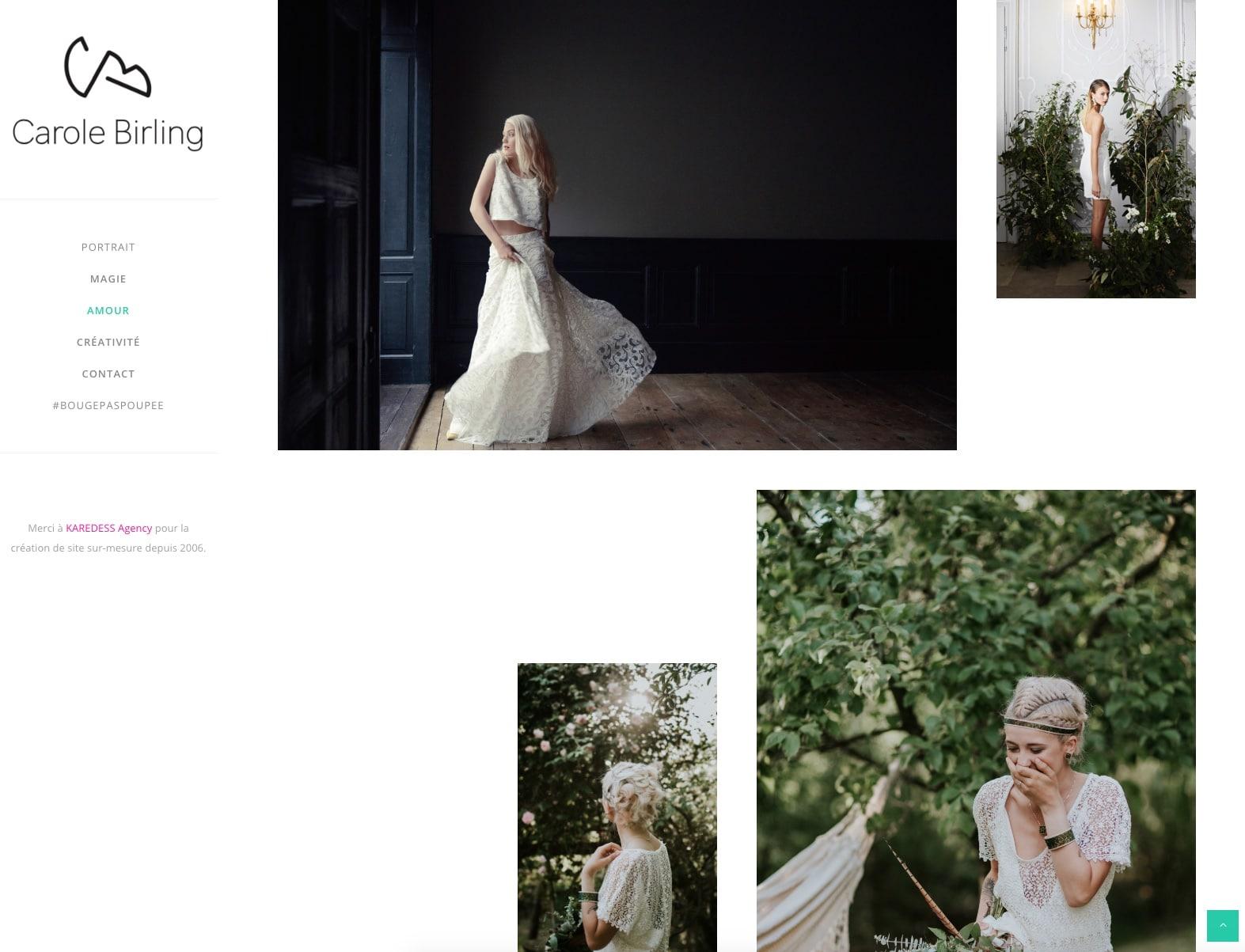 Galerie photos Carole Birling, cliente de l'agence web karedess agency à Mulhouse