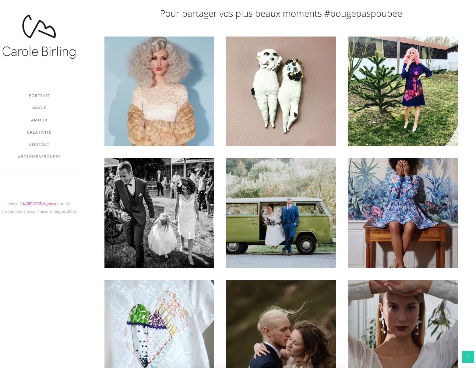 Flux Instagram Carole Birling, Agence Web Karedess, sur Mulhouse depuis 2006