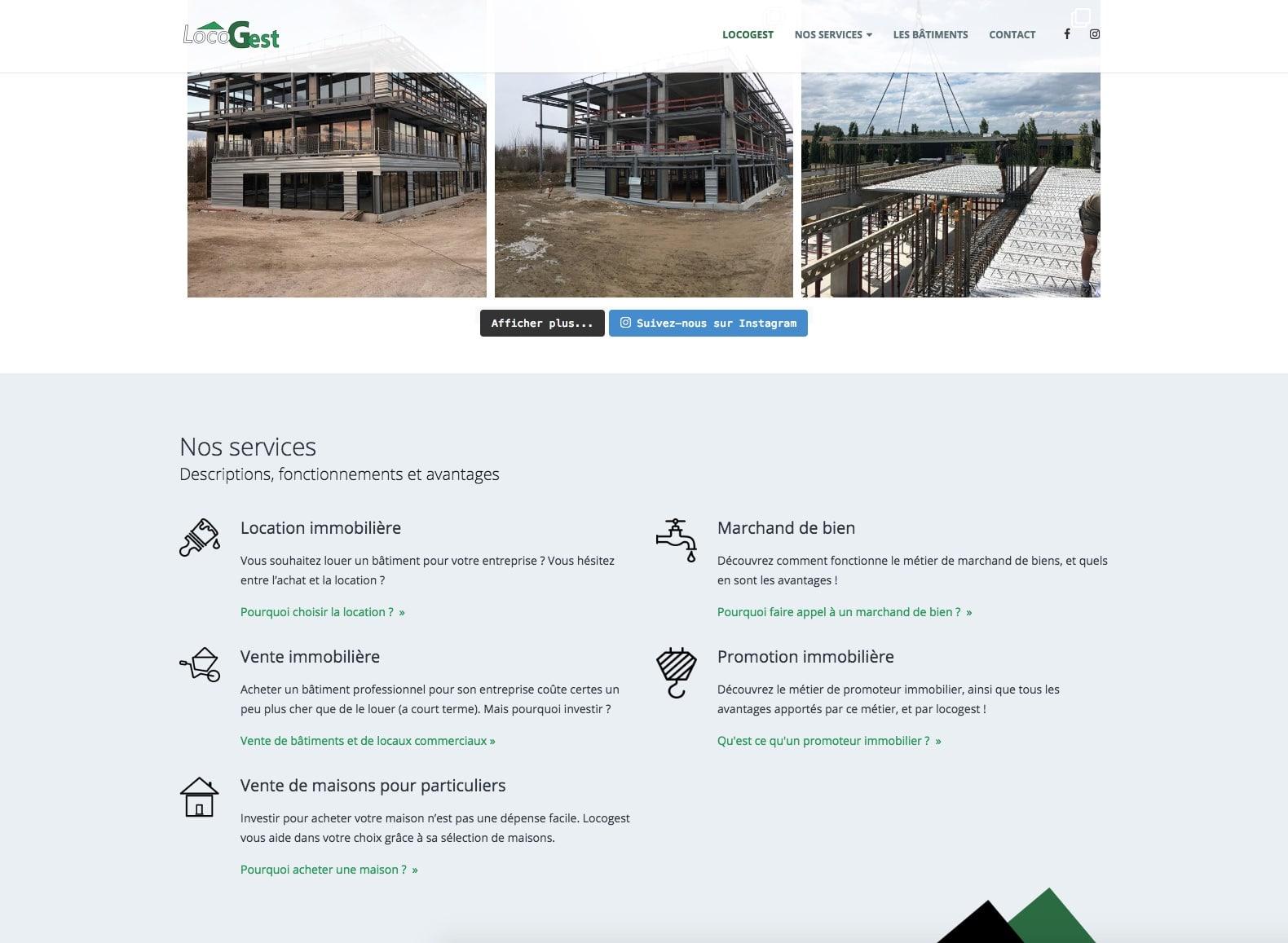 Locogest, site client de l'agence karedess, agence web sur Mulhouse