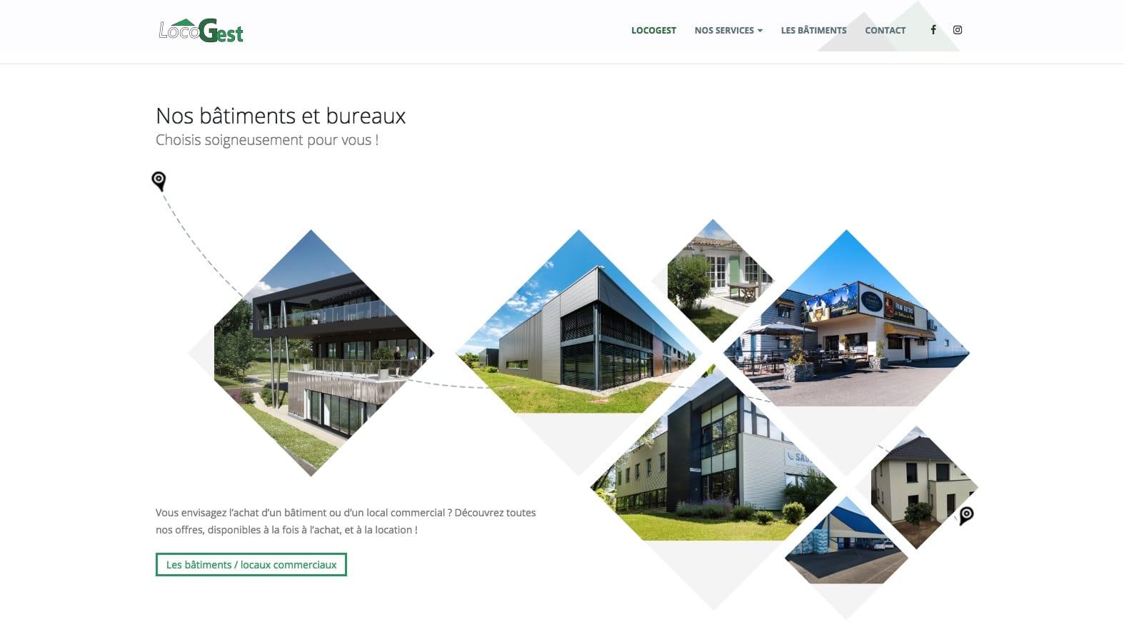 Locogest, bâtiments et bureaux, client de l'agence web et digitale Karedess à Mulhouse