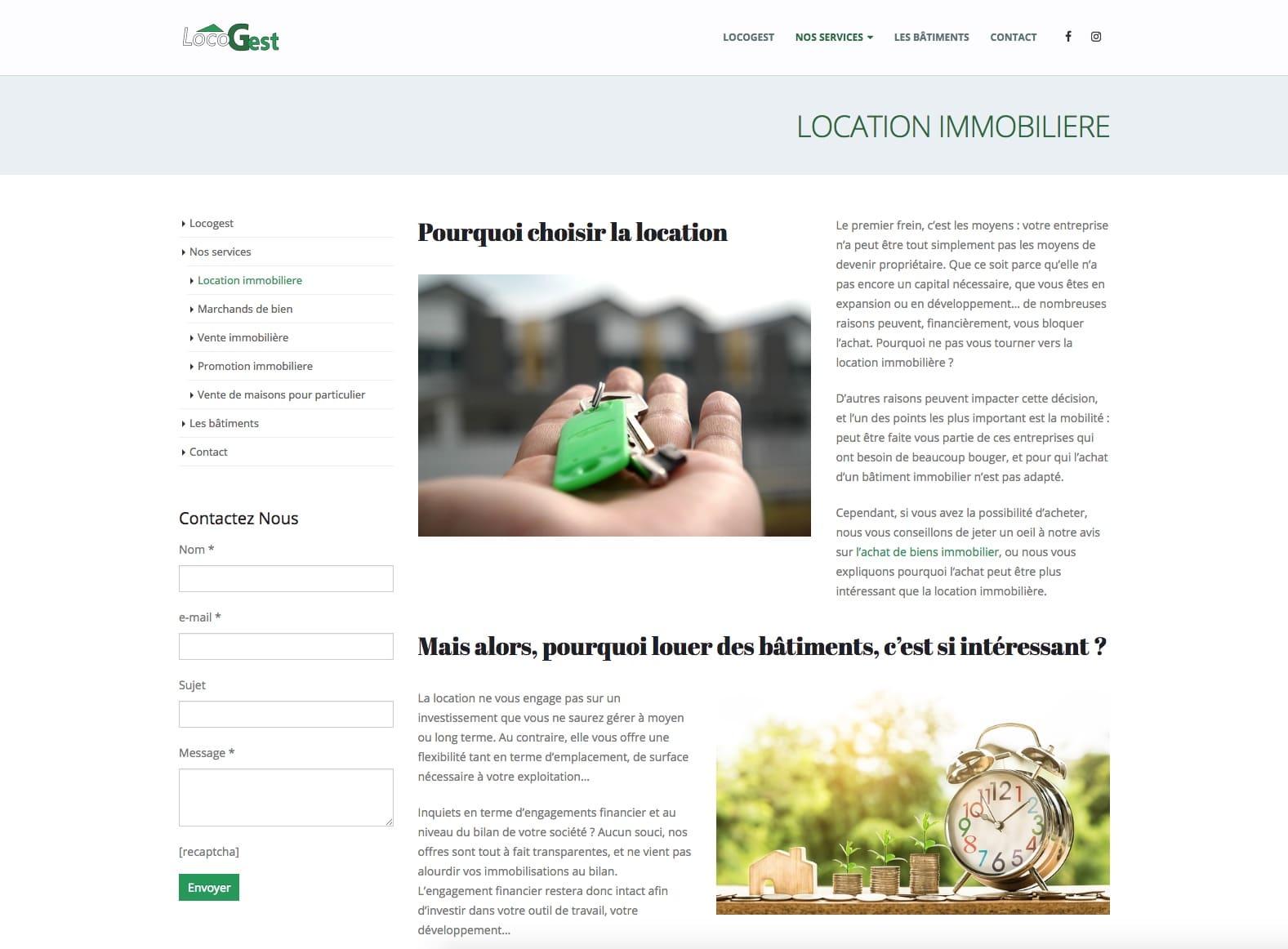 Locogest, location immobilière, un client de l'agence web Karedess à Mulhouse