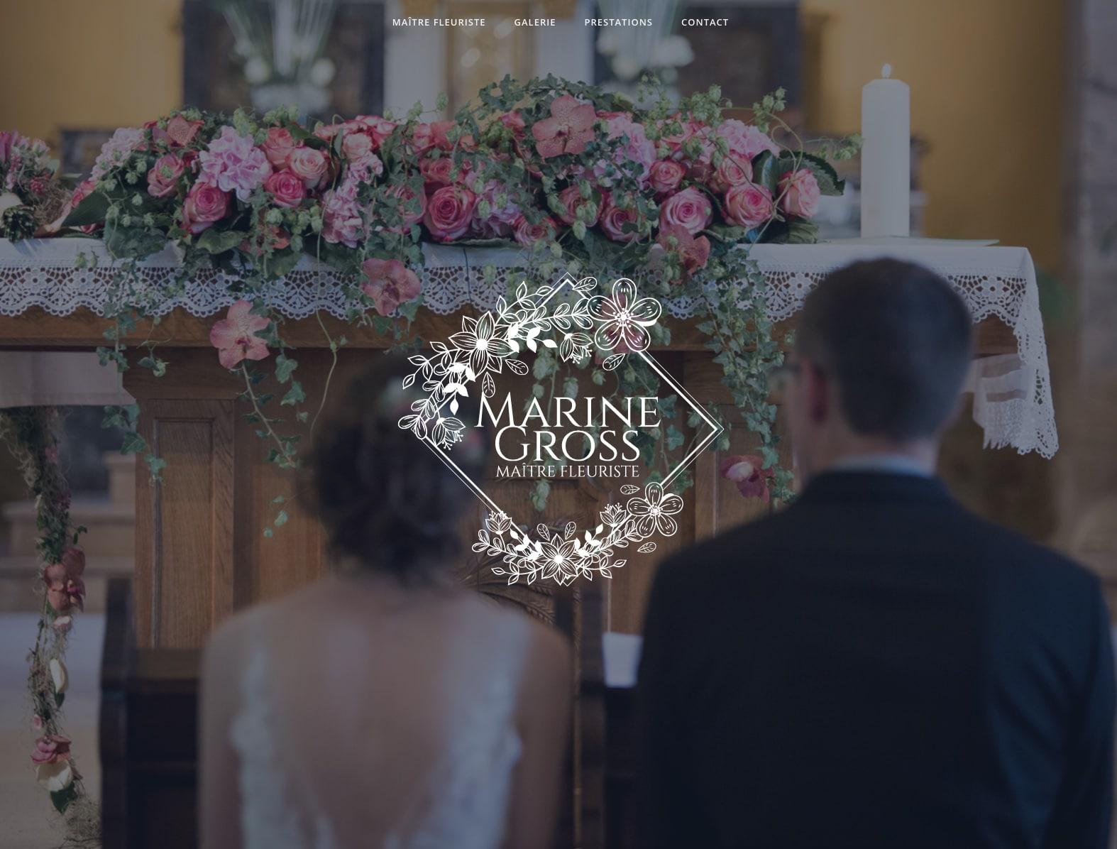 Marine Gross, maître fleuriste cliente de l'agence Karedess, agence digitale sur Mulhouse