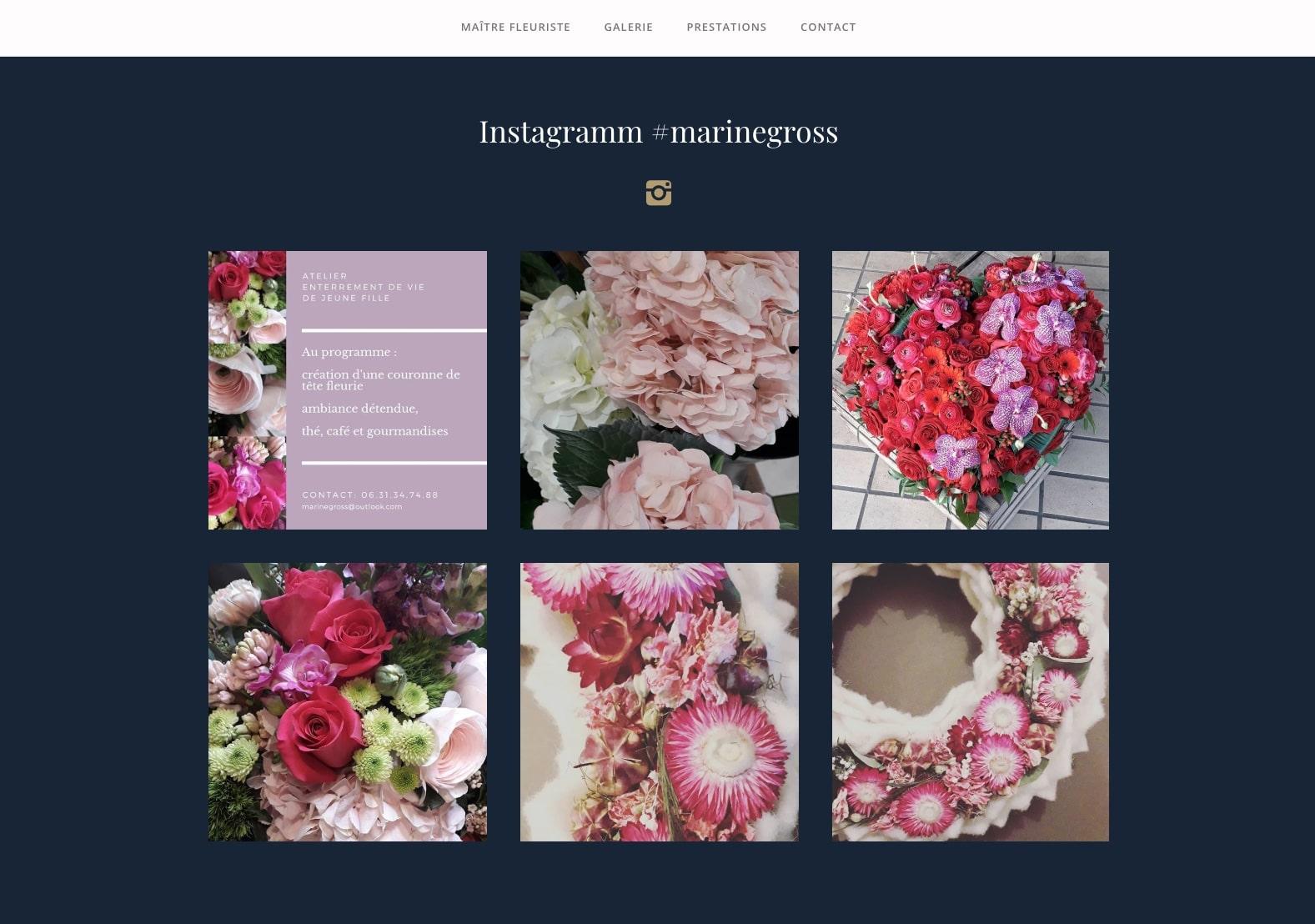 Marine Gross fleuriste, à fait confiance à Karedess agency, une agence web sur Mulhouse