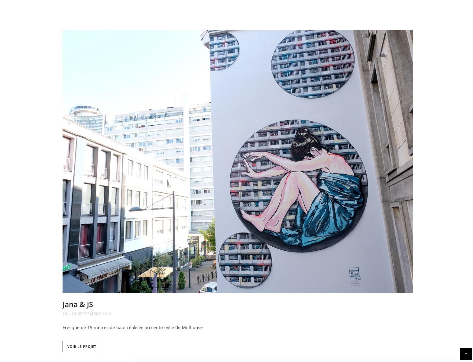 Orlinda, Street art, dessin sur Mur à Mulhouse, cliente karedess Agency