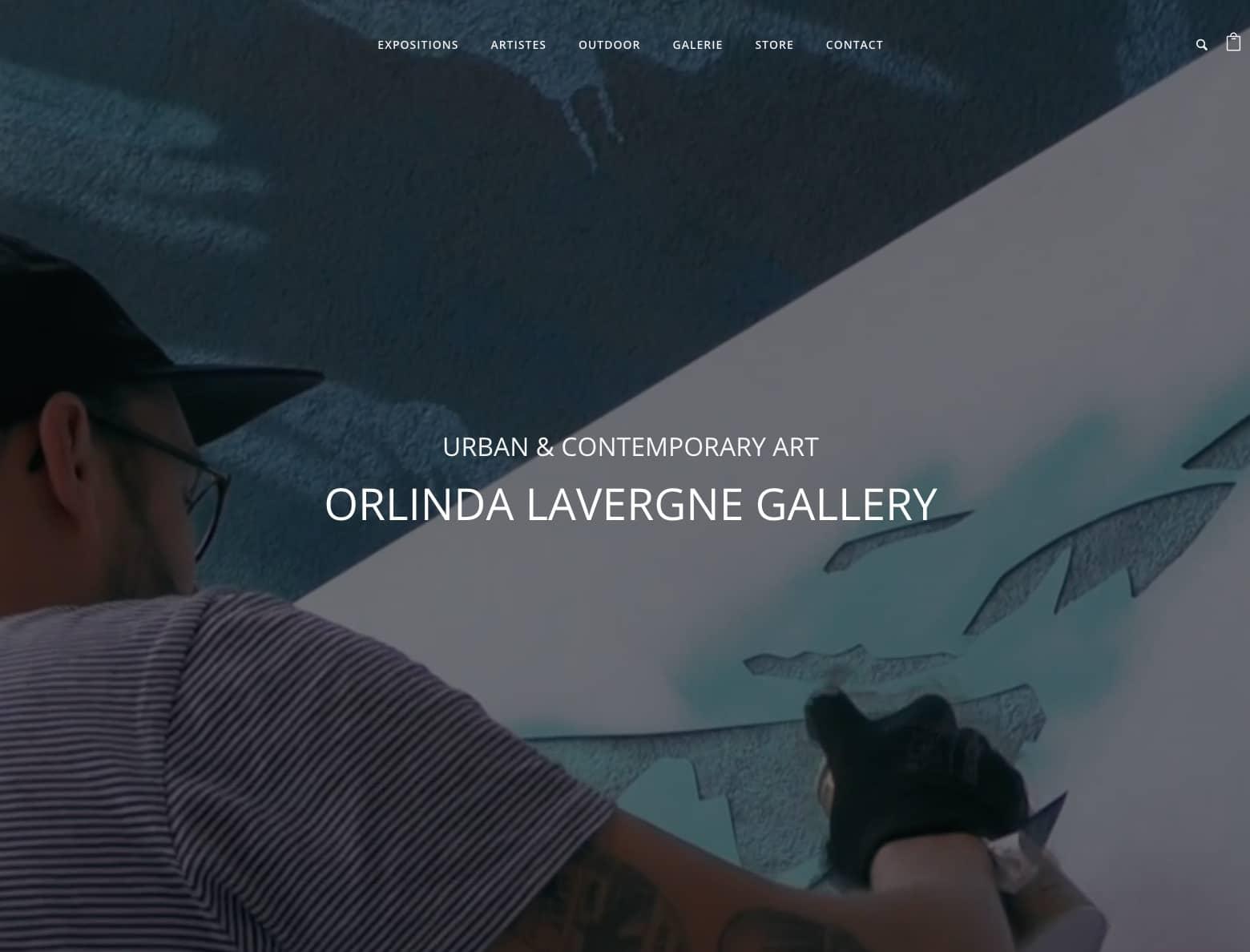 galerie Orlinda Lavergne, cliente de l'agence Karedess Agency spécialiste wordpress