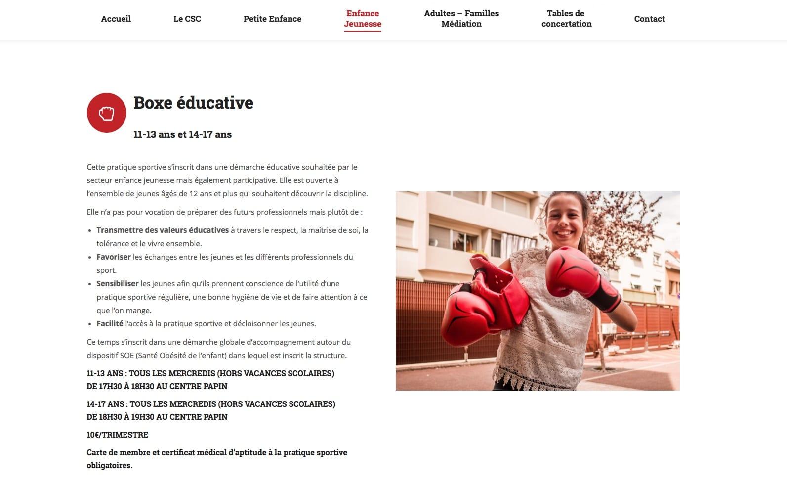 Centre Papin, client Karedess, spécialiste wordpress à Mulhouse
