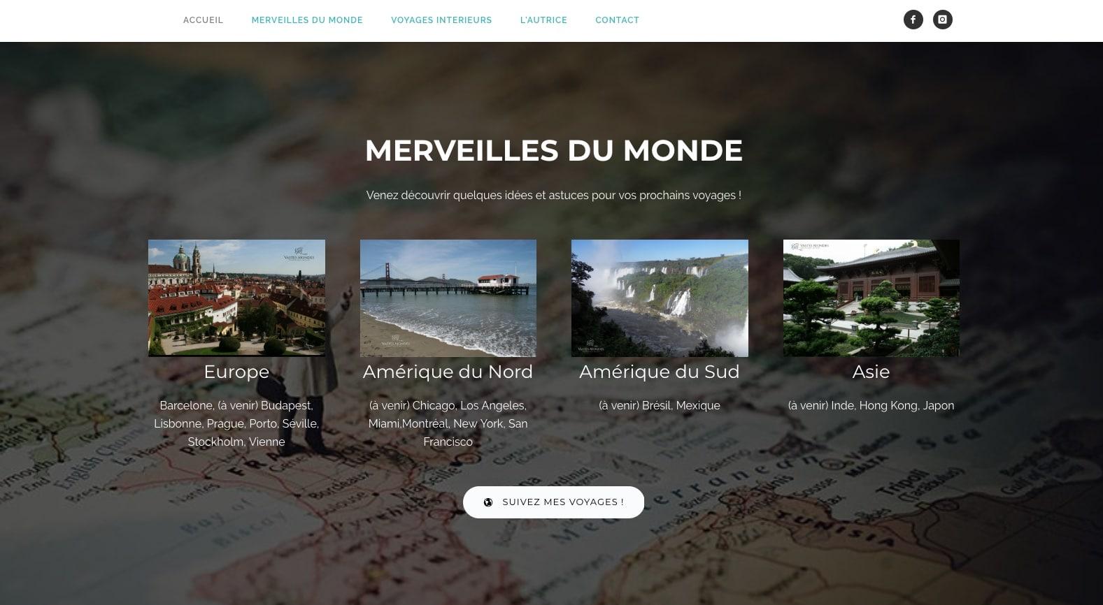 Suivez les doux voyages d'un vaste monde, client de l'agence digitale Karedess à Mulhouse