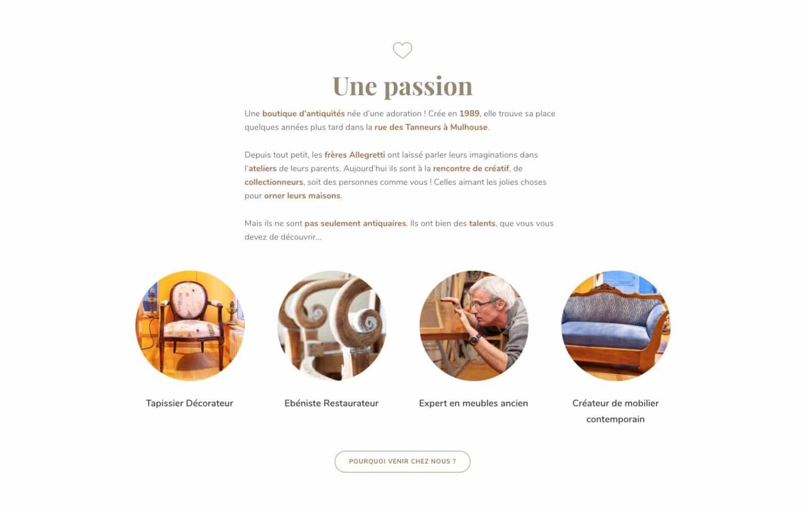 Allegretti frères une passion.. Un client fidèle de l'agence web Karedess a Mulhouse
